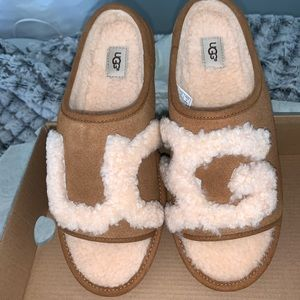 🆕 UGGS SHERPA SLIDE SLIPPERS - BRAND NEW!!!